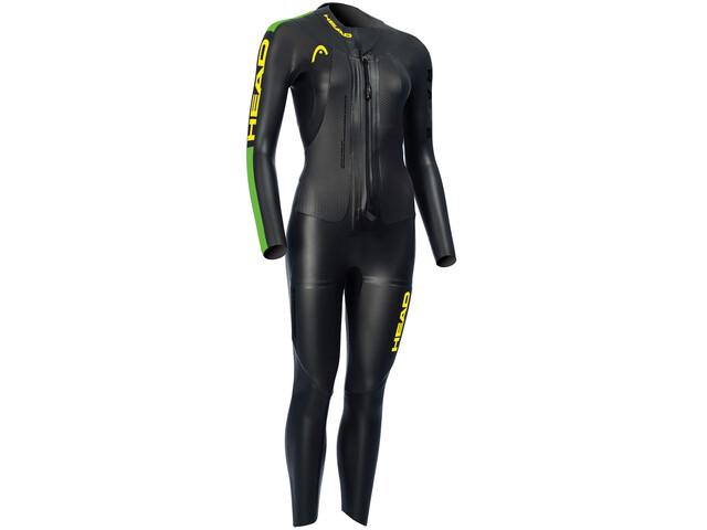 Head Swimrun Race 6.4.2.1,5 Traje Triatlón Mujer, negro